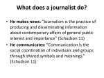 what does a journalist do