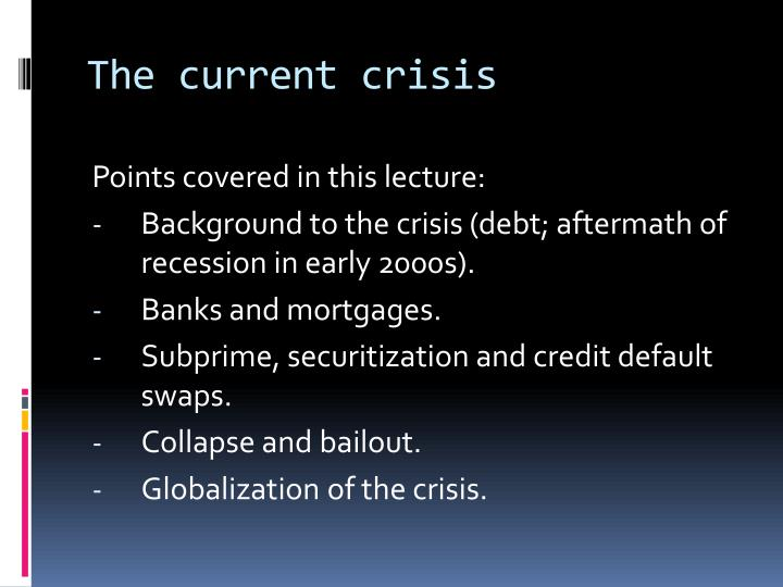 securitization and subprime crisis a critical Since the outbreak of the subprime mortgage crisis, the benefits of securitization have started to be questioned originally, securitization was meant to improve the efficiency of capital markets by reducing risks through risk tiering and geographic diversification it has also been considered to have.
