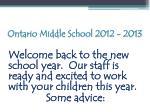 ontario middle school 2012 20131