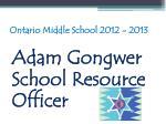 ontario middle school 2012 201313