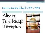 ontario middle school 2012 201325