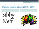 ontario middle school 2012 201333
