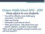 ontario middle school 2012 20135