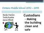 ontario middle school 2012 201352