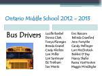 ontario middle school 2012 201353