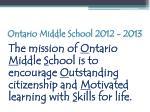 ontario middle school 2012 201355