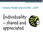 ontario middle school 2012 201359
