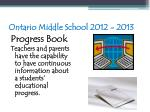 ontario middle school 2012 201365