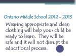 ontario middle school 2012 201372