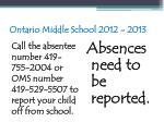 ontario middle school 2012 201380