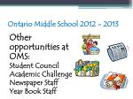 ontario middle school 2012 201393