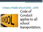 ontario middle school 2012 201395