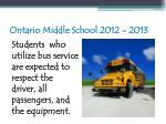 ontario middle school 2012 201396