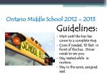 ontario middle school 2012 201397