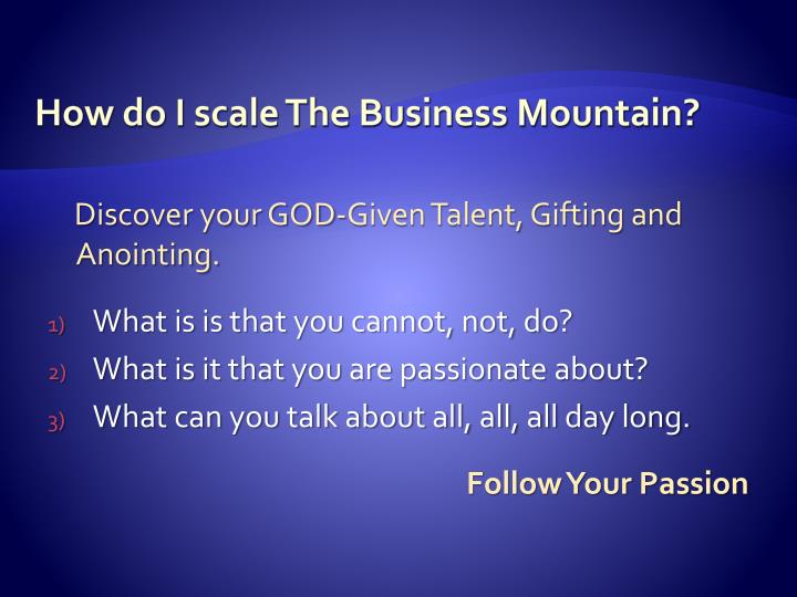 How do i scale the business mountain1