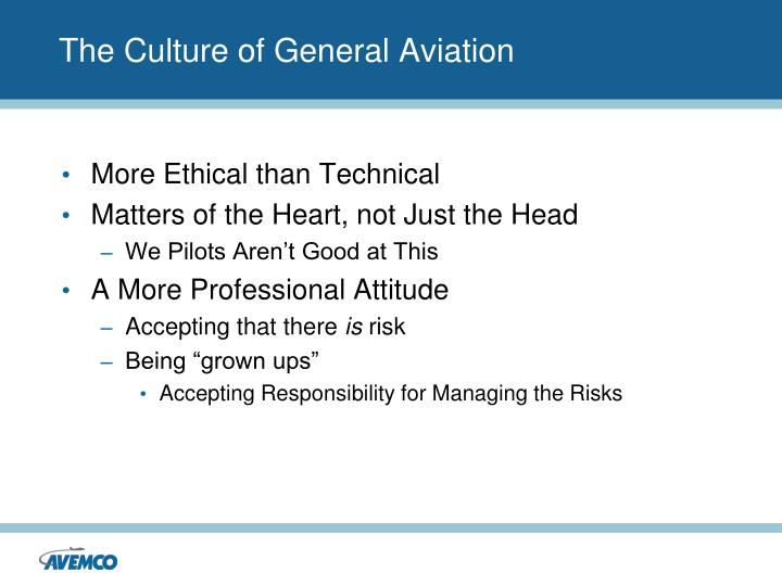 The Culture of General Aviation