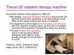 therac 25 radiation therapy machine