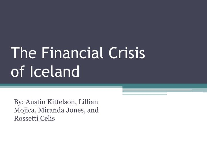the financial crisis of iceland n.