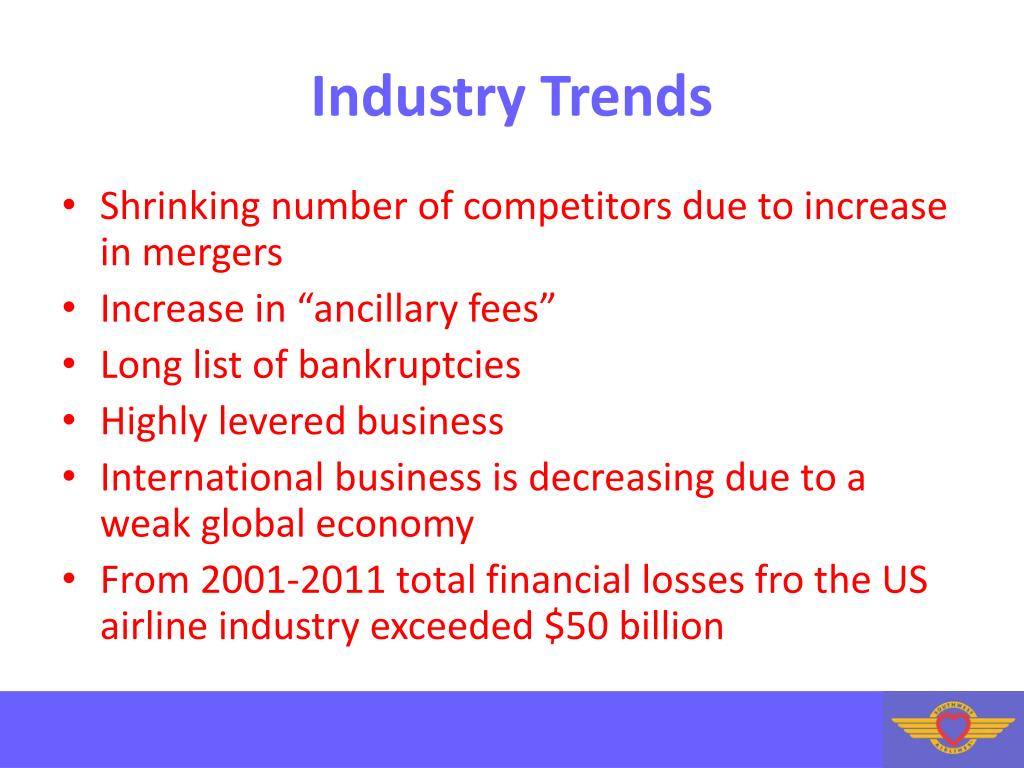 PPT - Commercial Airline Industry and Southwest Airlines PowerPoint