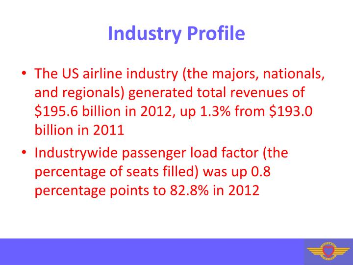 external factor airline industry The external factors affecting the airline industry are numerous and can be summarized using the pestle method it is an acronym for political, economical, social, technological profits derived from the airline industry are affected by economic activities carried outside the industry by other sectors.