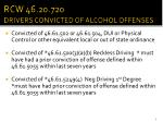 rcw 46 20 720 drivers convicted of alcohol offenses