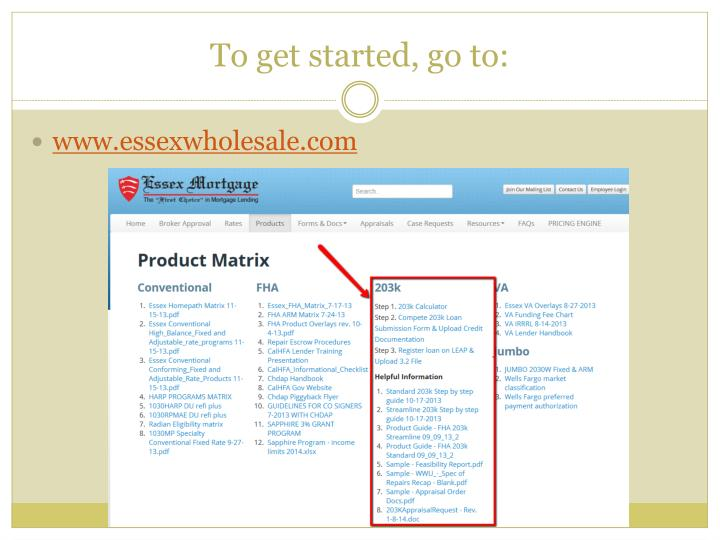 To get started, go to: