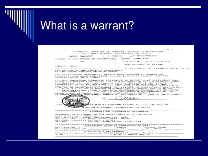 What is a warrant?