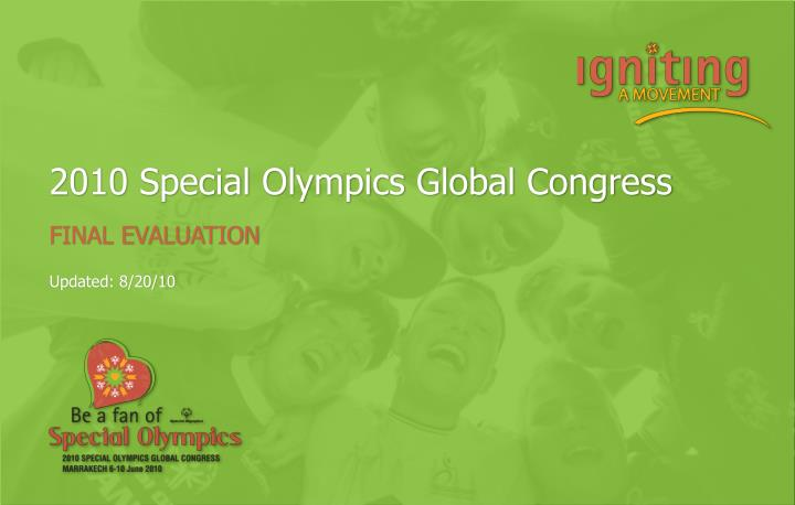 2010 special olympics global congress