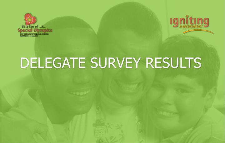 Delegate survey results