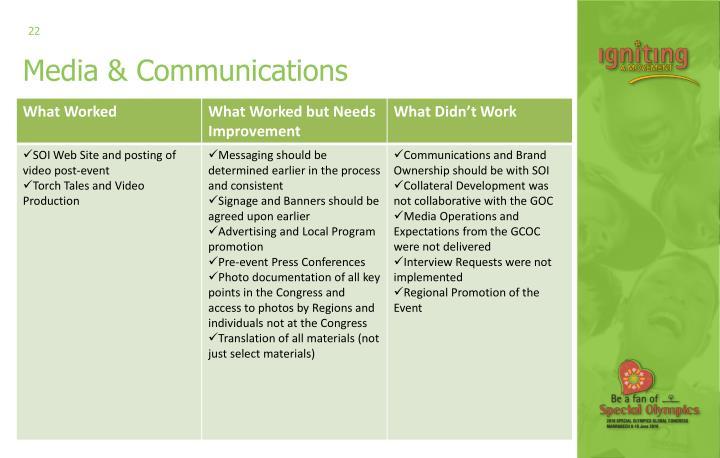 Media & Communications