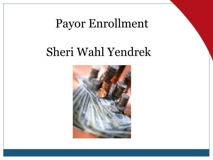 Payor Enrollment