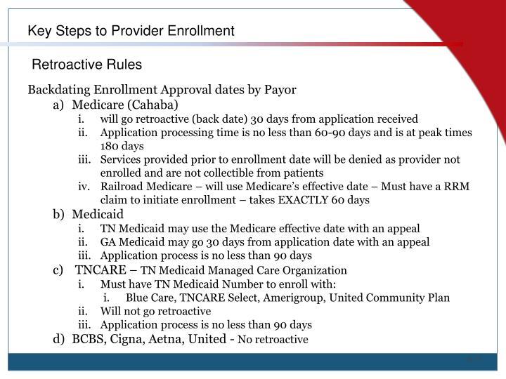 Key Steps to Provider Enrollment