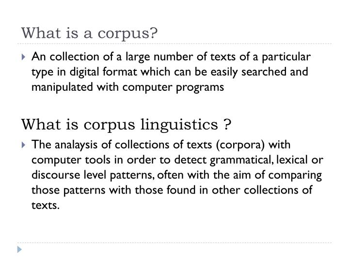 Ppt corpus linguistics an introduction eng 447 powerpoint.