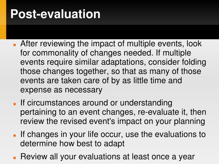 Post-evaluation