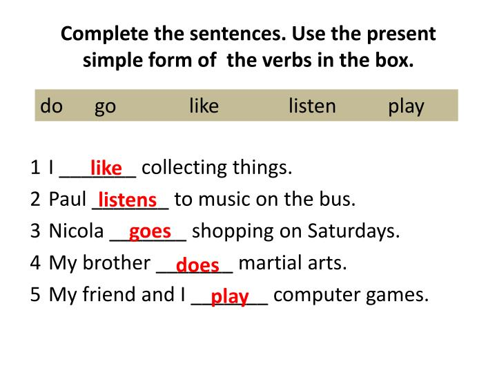 Present simple Exercises PDF Egrammar
