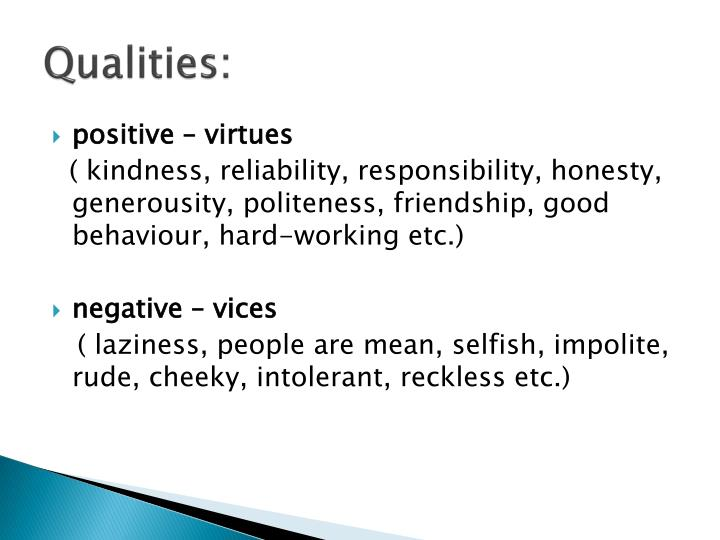qualities examples