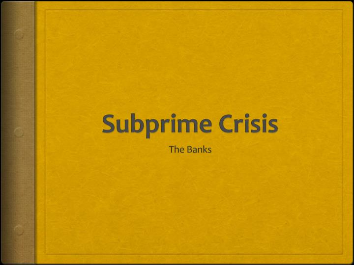 citigroup and subprime lending case study
