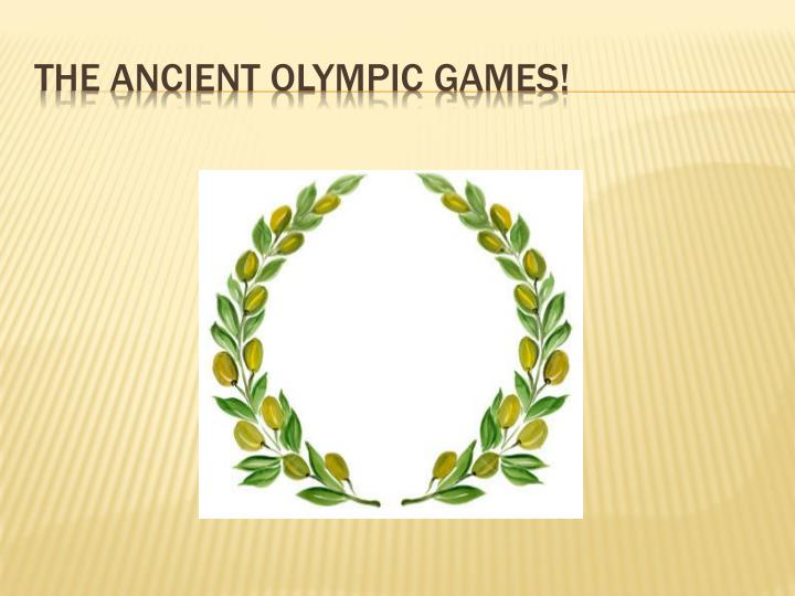the ancient olympic games n.