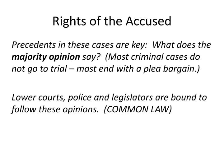 rights of an accused