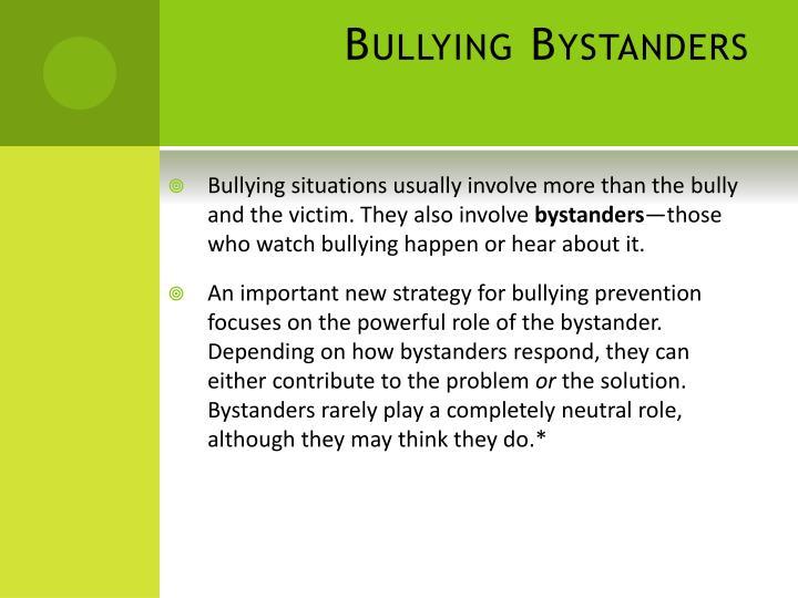 Bullying Bystanders