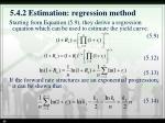 5 4 2 estimation regression method