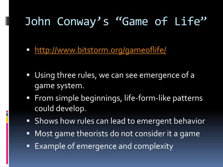 "John Conway's ""Game of Life"""