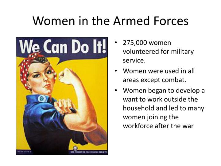 women in the armed forces n.