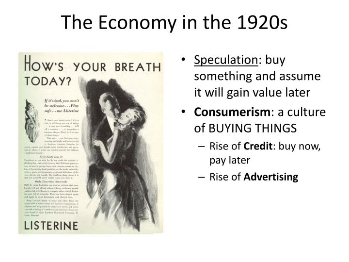 The economy in the 1920s