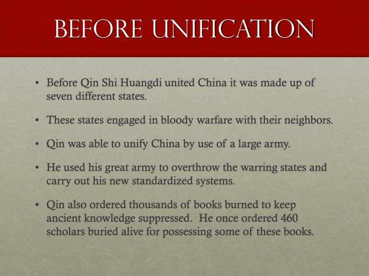 Before unification