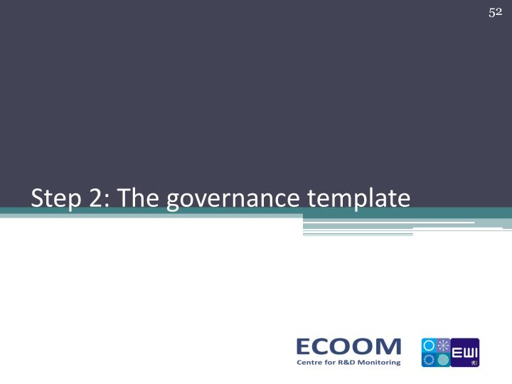 Step 2: The governance template