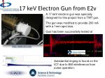 17 kev electron gun from e2v