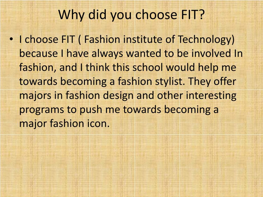 Ppt Fashion Institute Of Technology Powerpoint Presentation Free Download Id 1546458