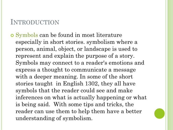 Ppt Symbols In Short Stories Powerpoint Presentation Id1546468
