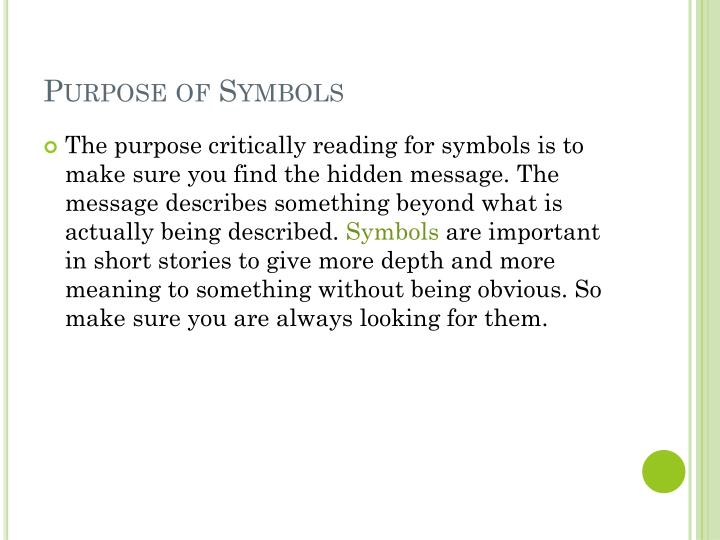 short stories with hidden meanings